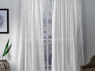 ATI Home Bella Sheer Hidden Tab Top Curtain Panels Set of 2
