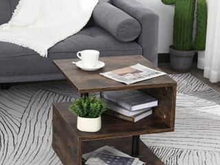 HomCom Industrial Modern 3 Tier Side Table End Desk