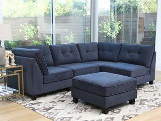 PIECE OF Abbyson Maddox Modular Fabric Sectional   Armless Chair
