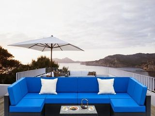 PIECE OF Zimtown Outdoor Sectional Sofa All Weather Patio Furniture Set