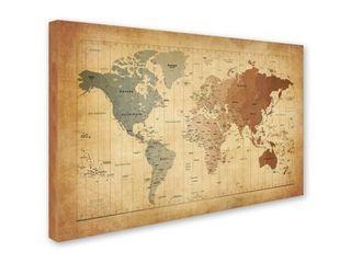 Copper Grove Map Canvas Art
