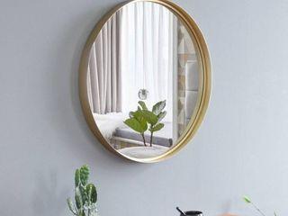 Round Frame Indoor Iron Wall Flat Mirror