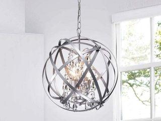 Benita 4 light Metal Crystal Orb Chandelier