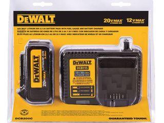 DEWAlT 12V 20V Max lithium Ion Battery Charger