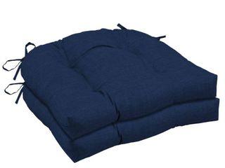 Arden Selections Sapphire leala Wicker Seat Cushion 2 pack   18 in l x 20 in W x 5 in H