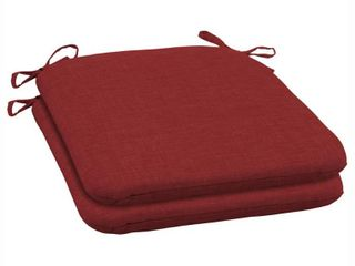 ARDEN SElECTIONS 19 x 18 Ruby leala Texture Outdoor Seat Cushion  2 Pack