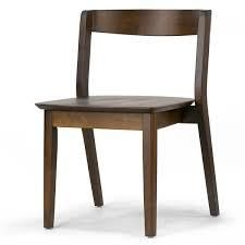 Astor Dark Brown Solid Wood Chair with Curved Back