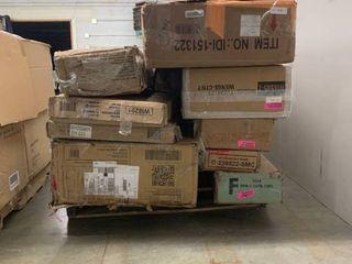 Pallet of random  mismatched boxes