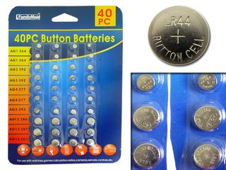 40 Pcs Of Assorted Button Cell Batteries Super Alkaline Set Battery Watch