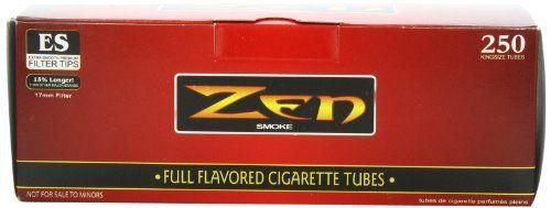 1 Box   250pc Zen King Size Full Flavor Cigarette Tubes