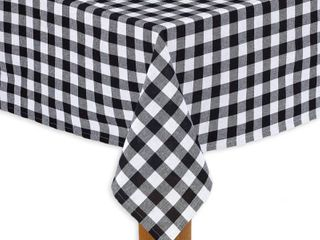 Conventry Black Buffalo Check 100  Cotton Tablecloth 60 X104