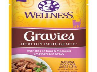 WEllPET  llC HEAlTHY INDUlGENCE GRAVIES TUNA MACKEREl CAT Pack of 24