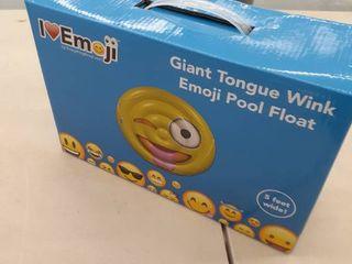 I love Emoji   Everything Emoji Emoji Swimming Pool Float   Tongue Wink Emoticon