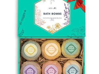 Aprilis Bath Bombs Gift Set  Organic   Natural Essential Oil Bath Bombs for Dry Skin Moisturizing  Handmade Fizzy Spa Bath Set