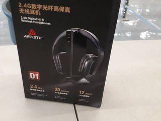 Wireless Stereo Tv Headphones  Artiste D1 2 4ghz Optical Fiber Tv Headset