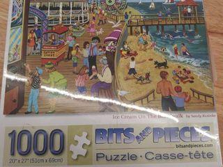 Beautiful 1000 Piece Jigsaw Puzzle    ice Cream On The Boardwalk