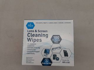 Medpride Premoistened lens Wipes  100 pack  Anti static  Anti fog