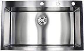 36 inch Topmount Drop In Stainless Steel Sink