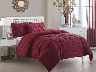 VCNY Home Carmen 4 Piece Pintuck Textured Bedding Comforter Set QUEEN