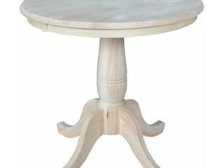 International Concepts 30 inch Round Pedestal Table Top Only Retail 184 99