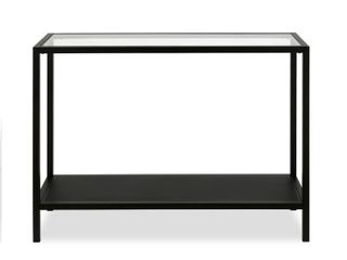 Rigan 36  Console Table in Blackened Bronze