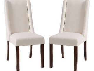 Madison Park Victor Cream Wing Dining Chair  Set of 2    18 5 W x 27 D x 39 25 H  2  Retail 309 99
