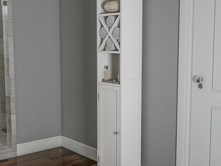 Hastings Home Bathroom linen Cabinet White  Retail 101 99