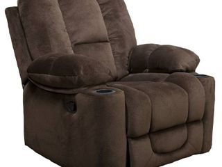 Gannon Fabric Reclining Glider Club Chair by Christopher Knight Home  Retail 466 49