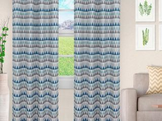 Impressions Westrom Semi Sheer Jacquard Curtains Set of 2 with Grommet Header