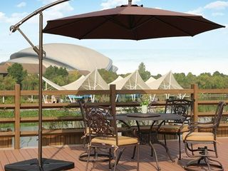 Weller 10  Cantilever Hanging Patio Umbrella  Base Not Included Retail 138 99