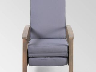 Rosy Outdoor Acacia Wood Push Back Recliner by Christopher Knight Home Retail 356 99