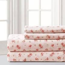 QUEEN Amrapur Overseas Inc  Printed Sheet Set Sweet Rose Blush