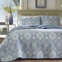 KING Tommy Bahama Turtle Cove Blue Cotton Quilt Set  Retail 156 99