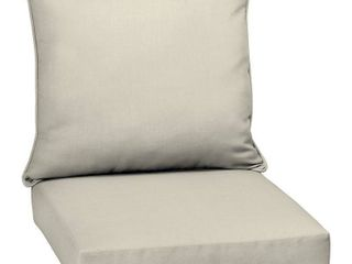 Arden Selections Acrylic Sand Canvas Texture Outdoor Deep Seat Set   46 5 in l x 25 in W x 6 5 in H  Retail 79 98