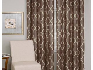 PAIR OF Elrene Medalia Grommet Top Curtain Panel