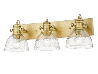 Golden lighting Hines 23 13 in  3 light Brushed Champagne Bronze Vanity light