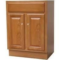24X18 Raised Panel Oak Bathroom Vanity  Retail 254 49