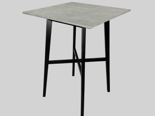 Kenilworth Modern Resin Square Bar Table by Christopher Knight Home   Retail 165 00