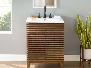 Render Bathroom Vanity in Walnut White  Retail 319 99
