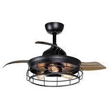 Parrot Uncle 3 Bladr Industry Black 36 in  Retractable Ceiling Fan