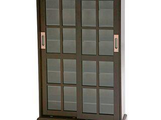 Tavares Sliding Door Media Cabinet  Espresso