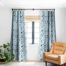 Pair of  Mareike Boehmer Scandinavian Elegance Terrazzo Blackout Curtain Panel