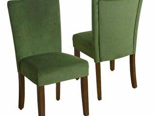 HomePop Velvet 2 Pack Parson Dining Chair  Retail 186 64