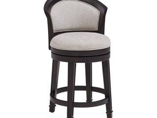 Hillsdale Furniture Monae Woven Gray Swivel Counter Height Stool  Retail 399 00