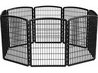 Black  IRIS 34 inch Exercise 8 panel Pet Playpen without Door  Retail 83 99