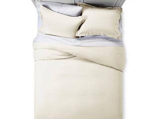 Sour Cream linen Duvet Cover Set  Full Queen    Fieldcrest