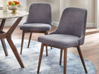 Set of 2 Saville Dining Chairs Gray   Buylateral