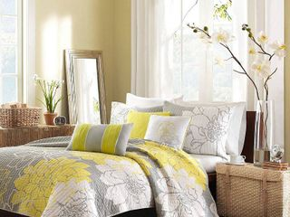 FUll QUEEN  Home Essence Jane 6 Piece Cotton Quilted Coverlet Set