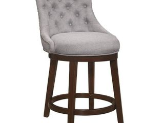 Hillsdale Furniture Halbrooke 37 5 in  Chocolate Wood Swivel Counter Height Stool  Brown