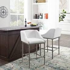 Carbon loft Giansanti Non swivel Modern Upholstered Stool  Retail 176 49